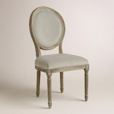 One of my favorite discoveries at WorldMarket.com: Dove Paige Round Back Dining Chairs, Set of 2