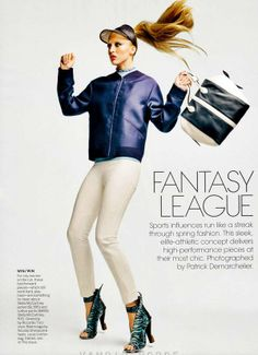 Sporty Leather Shoots - Raquel Zimmerman Stars in a Solo Editorial for Vogue US March 2012 (GALLERY)