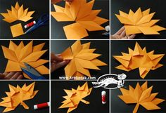 Knutselen DIY Origami Herbstblatt Papierkranz Achieving Success With Your Health and Fitness: Don't Diy Origami, Paper Crafts Origami, Paper Crafting, Leaf Projects, Fall Art Projects, Paper Leaves, Paper Flowers, Fall Leaf Template, Craftwork Cards