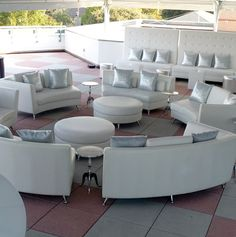 Infinity Sectional with sparkling silver pillows.