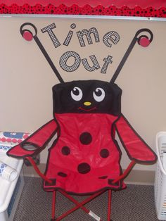 """Time Out"" Chair in the Ladybug Classroom."