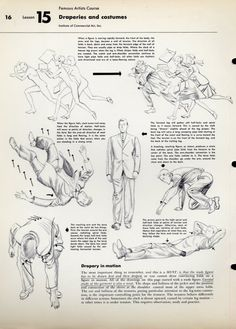 Draperies and costumes from Famous Artists Course by Institute of Commercial Art, Inc. Drawing Techniques, Drawing Tips, Drawing Reference, Drapery Drawing, Human Drawing, Commercial Art, You Draw, Drawing Clothes, Art Tips