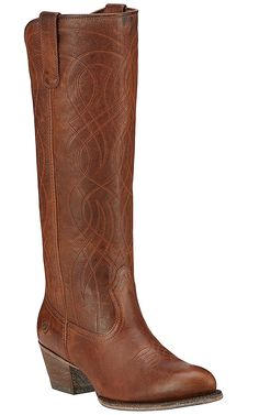 Ariat Singsong Women's Wood Brown Traditional Toe Tall Western Boots   Cavender's