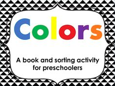 Color book & color sorting card activity - This is a free color picture book for preschool, pre-k and kindergarten. This also include color cards for… Kindergarten Sorting Activities, Kindergarten Colors, Preschool Colors, Free Preschool, Class Activities, Preschool Classroom, Black And White Books, Picture Cards, Science Ideas
