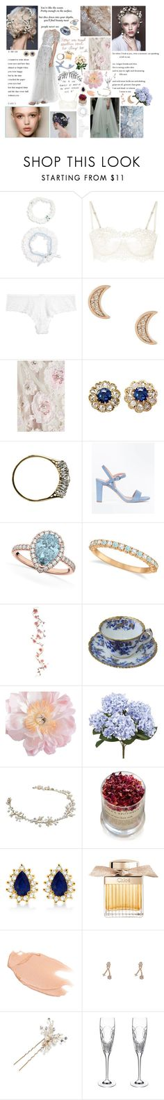 """""""4 months til I get married"""" by loveonthedole ❤ liked on Polyvore featuring Hanky Panky, La Perla, Wacoal, Astley Clarke, Needle & Thread, New Look, Allurez, Lola's Apothecary, Chloé and Too Faced Cosmetics"""