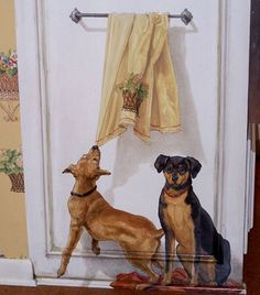 Dog Wall Mural Ideas ♡... Re-pin by StoneArtUSA.com ~ affordable custom pet memorials for everyone.