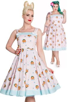 Foxy Pink 50's Dress by Hell Bunny  ---ARG! Why do I always miss Hell Bunny's cute shit? ;^;  This was in sizes up to 4X but now you can only get up to XXL EDIT: I think its still available on other sites!