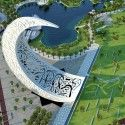 despite Dubai's current financial troubles, the centerpiece of one of Dubai's biggest projects is forging ahead. New Moon, designed by Variably Partners, is specially designed for an international design competition, and will be the center piece of Zabeel Park, a new landscape park in the City of Dubai. The crescent-shaped construction, considered a symbol of power and energy in the Orient, aims 'to accentuate prosperity of the present-day United Arab Emirates'