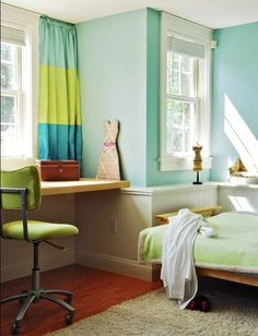 Gorgeous Home Office Interior Ideas to Celebrate the Spring Season: Spring Time Home Office Bedroom ~ pjtena.com Office