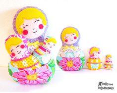 Babushka Matryoshka Russian Nesting Dolls PDF Sewing Pattern Set of 3. $10.00, via Etsy.