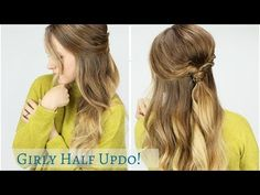 Trying some new things, I hope you like it! I'm definitely a fan of this super girly hairstyle! I already have a few more videos filmed to go up over the nex. Girly Hairstyles, Plaits Hairstyles, Down Hairstyles, Pretty Hairstyles, Easy Hairstyles, Medium Long Hair, Medium Hair Styles, Short Hair Styles, Half Up Half Down Hair