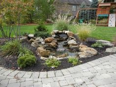 Pondless Waterfall with a peek of open water.