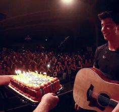 Shawn and the amazing Portland fans. Happy happy birthday Shawn!