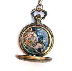 Doctor+Who+Pocket+Watch+Necklace+Gallifreyan+by+TimeMachineJewelry,+$50.00