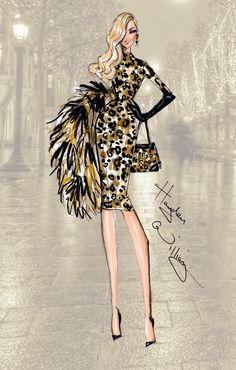#Hayden Williams Fashion Illustrations #PFW: 'On The Prowl' by Hayden Williams