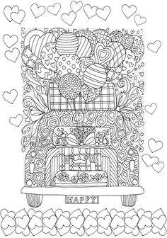 Creative Haven Celebrations Coloring Book -- 6 sample pages Dover Coloring Pages, Emoji Coloring Pages, Quote Coloring Pages, Printable Adult Coloring Pages, Coloring Books, Color Quotes, Coloring For Kids, Dover Publications, Drawing