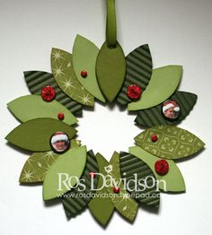 Wreath by ros - Cards and Paper Crafts at Splitcoaststampers                                                                                                                                                                                 More