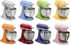 A rainbow of KitchenAid mixers