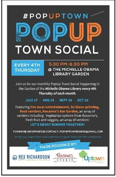 #PopUpTown Social at Michelle Obama Library, Long Beach