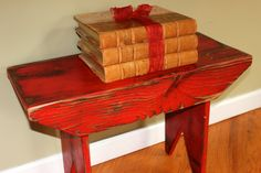 Primitive Milking Stool Bench from Barnwood by Junkin2Jewels