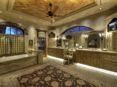 Huge bathroom! Definitely over the top, but I love how much space there is!