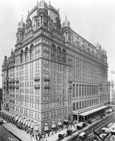 The original Waldorf-Astoria was located on the Fifth Avenue site of the Empire State Building. It started as two hotels: one owned by William Waldorf Astor, opened in 1893, and the other owned by his cousin, John Jacob Astor IV, called the Astoria Hotel, which opened in 1897. John Jacob Astor died on the Titanic in 1912; incidentally, the investigation into the sinking of the Titanic was held at Waldorf-Astoria.
