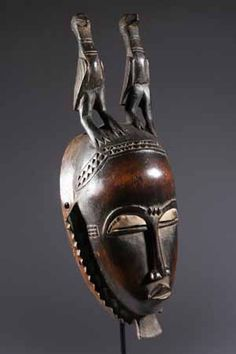 Africa | Mask from the Yaoure people of the Ivory Coast | Carved from locally sourced hardwood