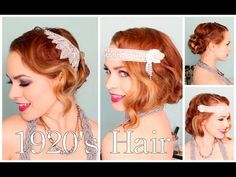 1920's Finger Waves, Faux Bob, and Updo Perfect for Halloween, Masquerade Balls, or Themed Weddings :)
