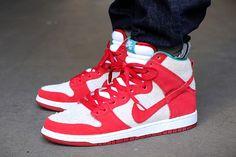 Nike Dunk Hi Pro Sb (GymRed/White)