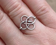 Celtic Knot Ring, Silver, Sterling, Wire Jewelry, Soldered