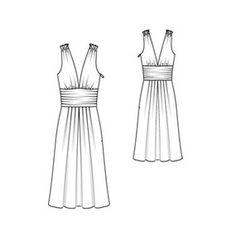 lovely Burda drape dress - fabric determines bulk and folds