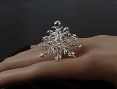 Sterling silver kinetic, twirling cocktail ring, statement, novelty by RadiantOriginals on Etsy