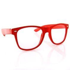 e9d6ed9974 Clear Lens Buddy Wayfarer Glasses - Clear Red w  Micro Case