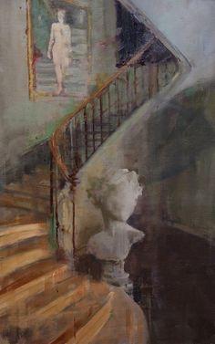 """Fanny Nushka Moreaux; Oil 2014 Painting """"Intérieur Collectionneur V, 2014"""""""