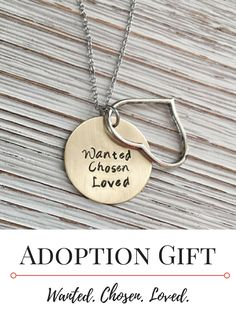 Wanted. Great gift for an adoptive mom or to give on a family day to a child who was adopted. Adoption Quotes, Adoption Gifts, Adoption Party, Types Of Adoption, Rose Gold Stackable Rings, Adoption Shower, International Adoption, Foster Care Adoption, Foster Parenting