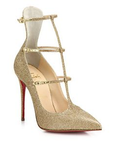 Christian Louboutin - Toerless Muse Triple-Strap Pumps