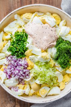Apr 2020 - Jul 2019 - Truly the Best Egg Salad Recipe. Hard-boiled eggs with celery, dill, seasoning and chives in creamy dressing. Egg salad is a great way to use cooked eggs! Egg Salad With Dill, Easy Egg Salad, Potato Salad With Egg, Best Egg Salad Recipe, Easy Salad Recipes, Salad Dressing Recipes, Recipes With Dill, Boiled Egg Salad, Boiled Eggs