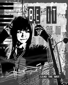Be It - Black. Artwork by Melissa Smith. #UrbanArtDistrict