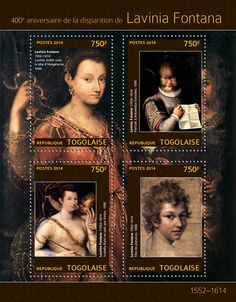"TG 14305 a Lavinia Fontana (""Judith with the Head of Holoferne"" ""Portrait of Antonietta Gonzales"" ""Isabella Ruini as Venus"" ""Head of a Youth"" Italian Baroque, Italian Painters, Italian Renaissance, Venus, Stamps, Youth, Portrait, Artist, Movie Posters"