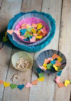 DIY Tissue Paper Bowls