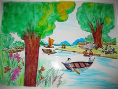 Village Scenario - Painting by Rumana Rahman in My Projects at touchtalent 9122