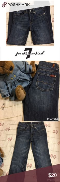 7 Fir All Man Kind Girls Standard Jeans Size 8 7 Fir All Man Kind Girls Standard Jeans Size 8 7 For All Mankind Bottoms Jeans