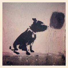 Dog stencil, Margate. 2012