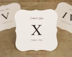 roman numerals carved table numbers - Google Search