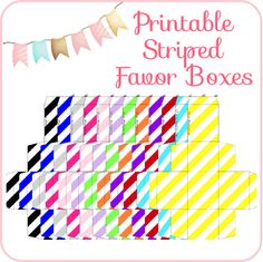 Graduation free printable gift tag crafts graduation free printable striped favor boxes negle Images
