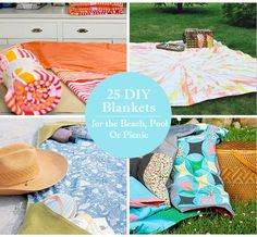 25 DIY Blankets for the Beach, Pool or
