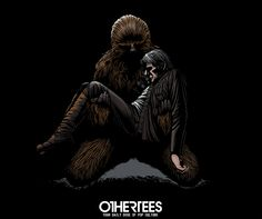 """A Death in the Galaxy"" by SIXEYEDMONSTER T-shirts, Tank Tops, V-necks, Sweatshirts and Hoodies are on sale until April 5th at www.OtherTees.com #tshirt #othertees #clothing #starwars #chewbacca #hansolo #theforceawakens"