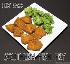 Low Carb Southern Fish Fry - perfect for a Sunday dinner or Lent!  #keto #atkins #lowcarb   @screwedonstraight.net