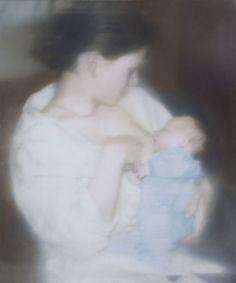 S. mit Kind, 1995, by Gerhard Richter