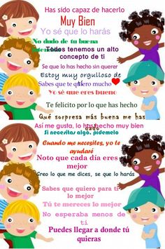 Palabras que animan Spanish Classroom, Teaching Spanish, Communication Positive, Kids Education, Best Mom, Classroom Management, My Children, Kids And Parenting, Back To School